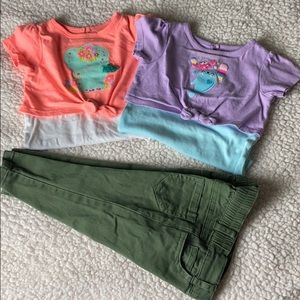 Baby girl outfit pants shirt size 12m